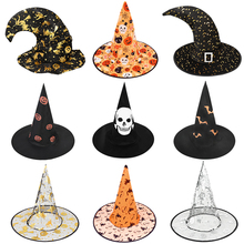 Top-Caps Witch-Hat Party-Props Wizard Costume-Accessories Cosplay Halloween Kids Black