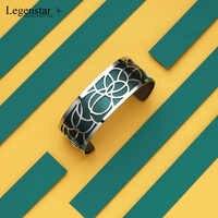 Legenstar amour manchette bracelets pour femme or acier inoxydable manchette Jonc fleur Argent Pulseiras