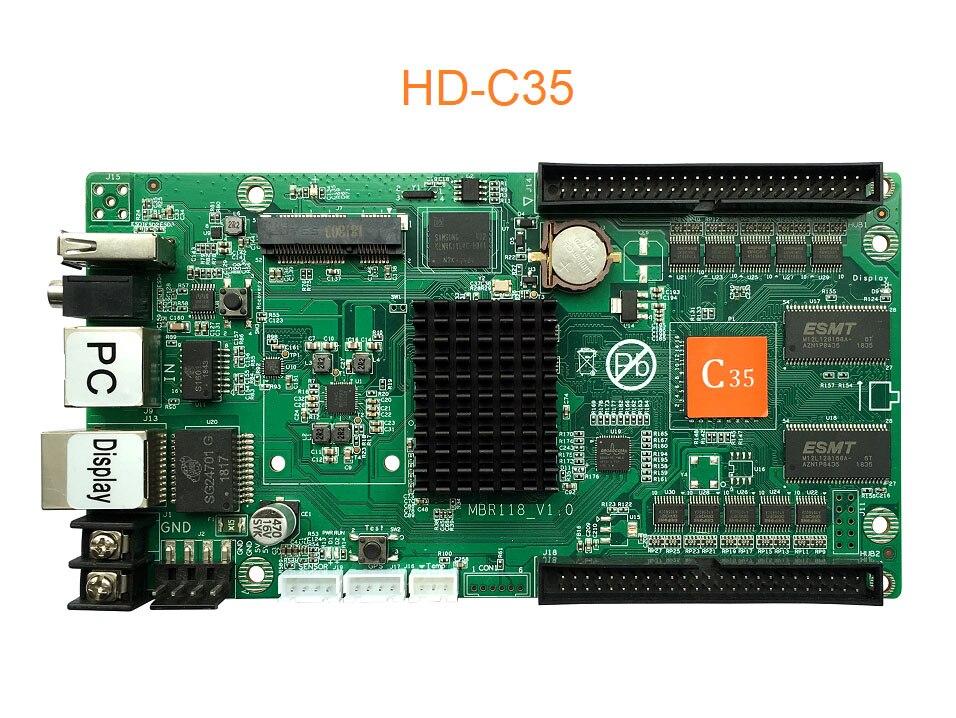 New HD-C35/HD-C35c Full Color Asyn LED Display Control Card,Full Color LED Display Send Card 1024x512 Pixel, On Board Flash 4GB