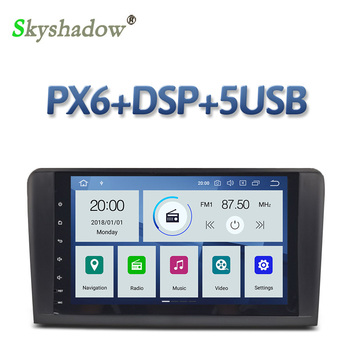 PX6 DSP IPS Android 9.0 4GB + 64GB Car DVD Player RDS Radio Bluetooth 4.2 For Benz W164 ML300 ML350 ML450 ML500 ML550 X164 GL500