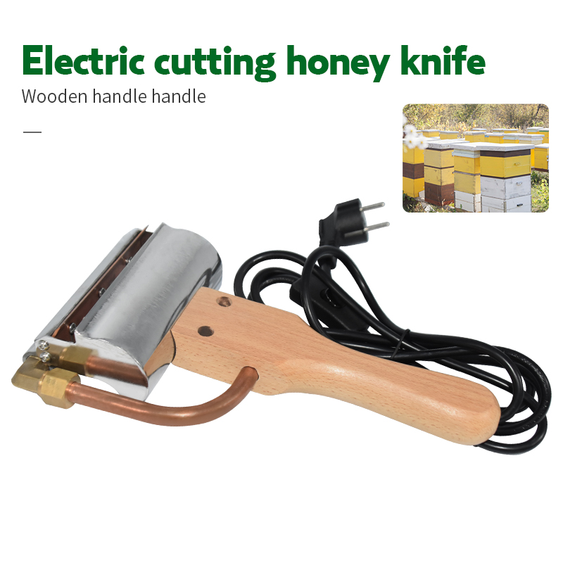 Electric Honey Knife Bee Beekeeping Equipment Cutting Knife Heating Handle Wooden Beekeeping Tools