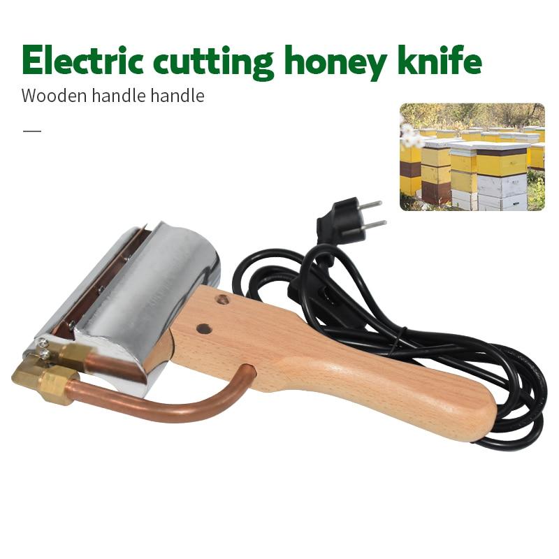 Electric Honey Knife Bee Beekeeping Equipment Cutting Knife Heating Handle Wooden Beekeeping Tools