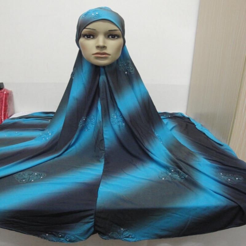 H036 большой размер XXL 120*110 см мусульманский хиджаб, Амира, Натяжной цветной шарф, головной платок, мусульманские шарфы