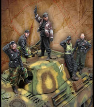 [tusk model]1/35 Scale Unassembled Resin figures resin model Kits big set(5 figures) eb008(China)