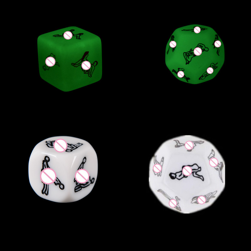 1/2pcs 6/12 Sided Sexy Funny Adult Love Humour Gambling Sex Romance Erotic Kama Sutra Craps Dice Toy