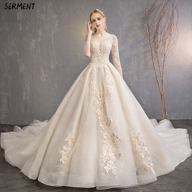 SERMENT Pregnant Women Wedding Women 2019 New Bride Small Tail Tail Large Size High Waist Cover Pregnant Belly Fat Was Thin