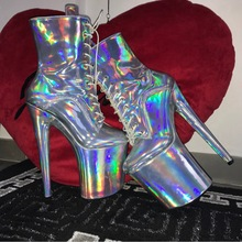 Ankle-Boots Platform Stipper Pole Holographic Dance-Heeled High-Heel Extreme Women Sorbern