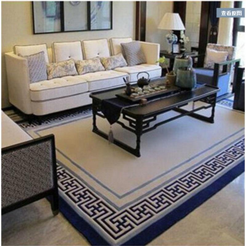 Grands tapis de laine tissés à la main de haute qualité pour salon tapis de laine chinoise chambre enfants tapis épais tapis de sol doux en peluche - 3