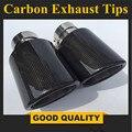 1 пара  Модифицированная выхлопная труба для автомобиля  нержавеющая сталь + глянец  углеродное волокно  выхлопная труба для автомобиля  вых...