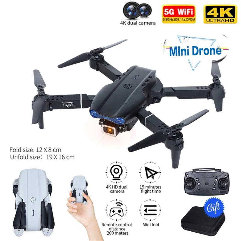 H9a977590b2d04abbb4feb302307a395bT - E99 PRO RC Drone 4K HD Dual Camera WiFi FPV Foldable Automatic Return Professional Aerial Drone K3 Dron Toy Gift For Adult Kids