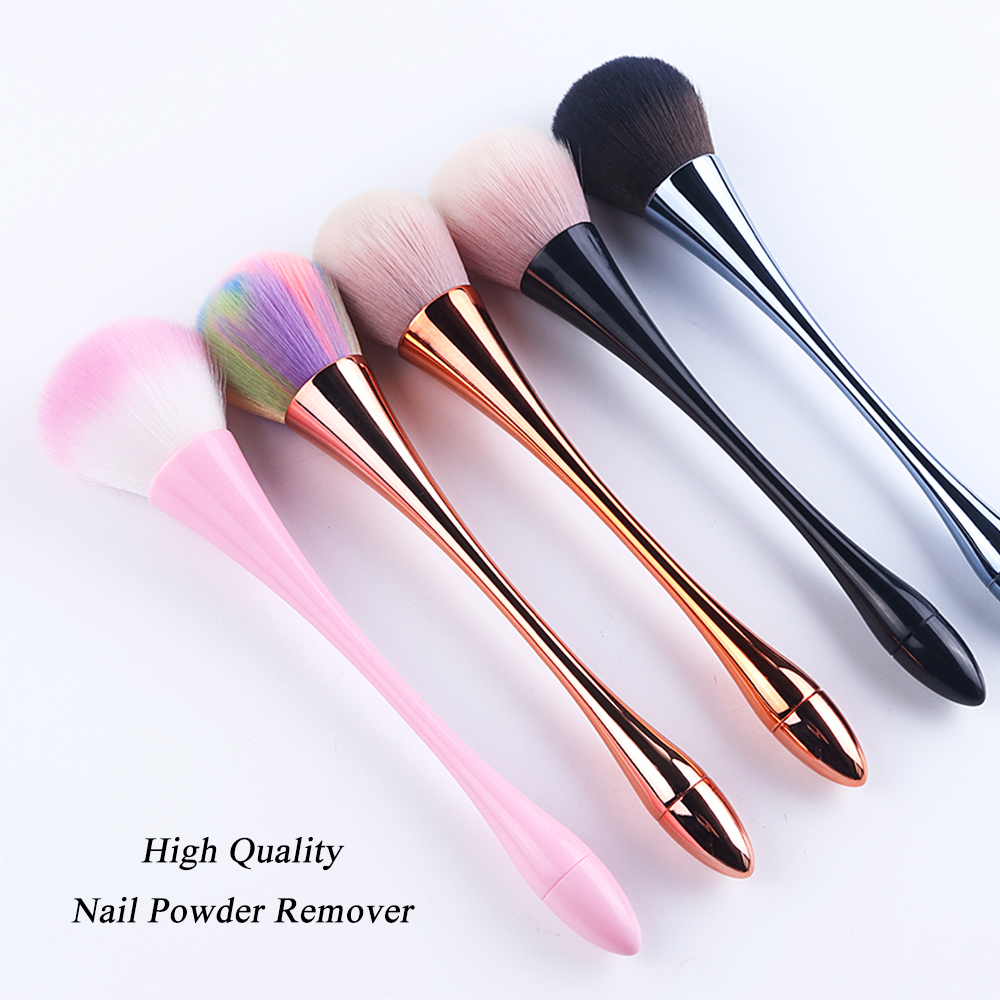 1pcs Nail Brush Nails Cleaning File Soft Brushes For Nail Art Glitter Powder Dust Remover Quality Manicure Cleaner Tool LA949