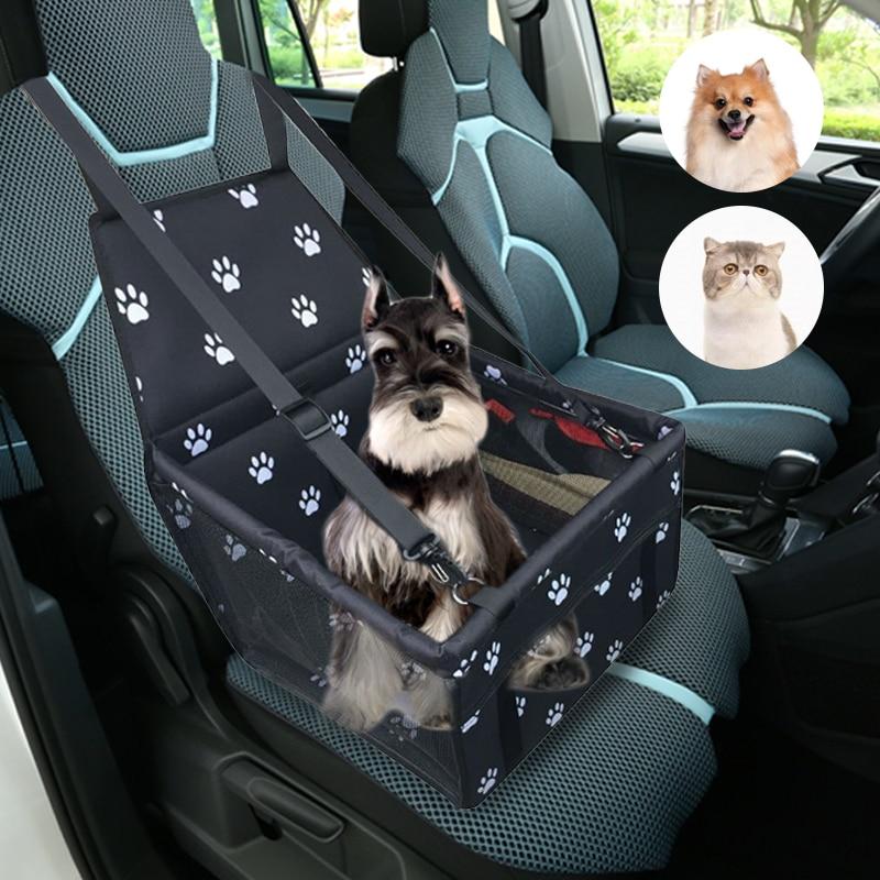 Waterproof Pet Dog Car Seat Cover Travel Dog Carrier Outdoor Safe Dog Car Seat Basket Cat Puppy Bag Travel Mesh Hanging Bags 1