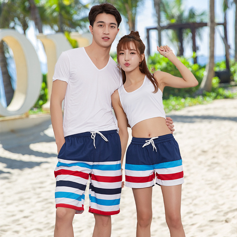 2018 Korean-style New Style Mixed Colors Couples Men And Women 1809 Sports Beach Outdoor Breathable Quick-Dry Lining Shorts