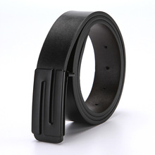 Mens Quality Design Genuine Leather Black Fashion Belts Male Jeans Waist Belt Apparel Accessories for Men and Women