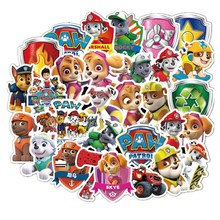 50Pcs Paw patrol toys set patrol dog Stickers toy PVC graffiti stickers Patrulla Canina Action Figures Toy Children Gifts zakka groceries elephant puppy kitty kangaroo pvc action figures toy diy micro garden landscape decoration props children gifts