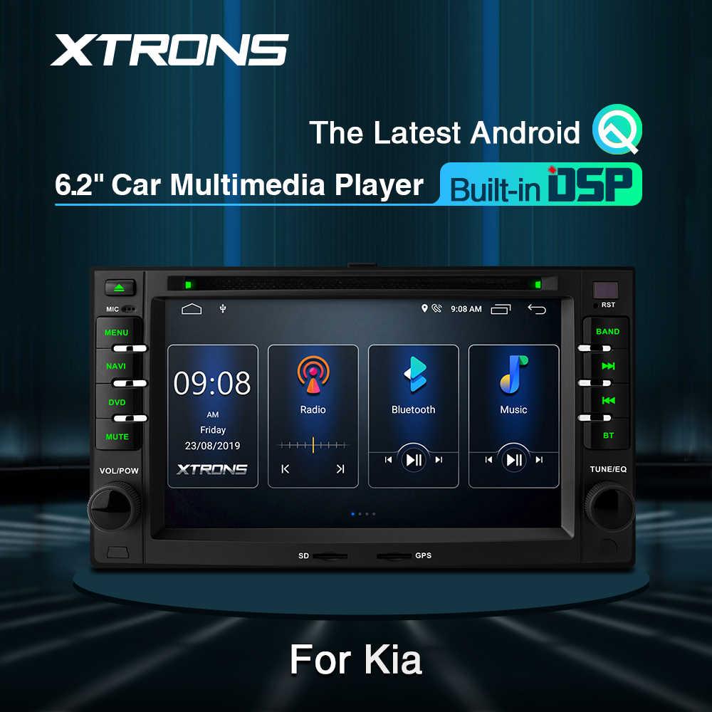 "Xtrons 6.2 ""Android 10 Mobil Dvd Player DSP GPS OBD DVR untuk Kia Sportage Sorrento Rio Picanto Jtsl Karnaval magentis Optima Cerato"