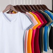 MRMT 2019 Brand New Womens 95% Cotton T-Shirt Pure Color Short Sleeve Women T
