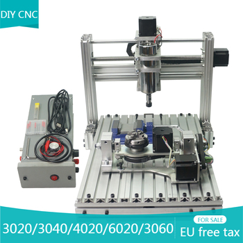 LY DIY 5aixs CNC Router 3020 3040 4020 3060 6020 3 4 aixs Mini CNC wood pcb engraving milling machine ER11 collet Mach3 USB 5 axis diy cnc 3040 with 400w spindle motor usb port mach3 er11 collet type for pcb pvc woodworking cnc milling machine