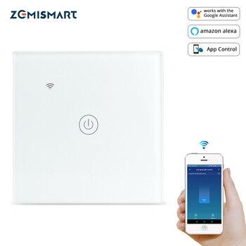 Interrupteur d'éclairage WiFi zemimart Tuya pas de fil neutre requis un deux trois gangs Alexa Google Assistant domestique contrôle de la vie intelligente