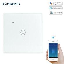 Zemismart Tuya WiFi Light SWITCH Neutralตัวเลือกหนึ่งสองสามGANG Alexa Google Home Assistant Smart Lifeควบคุม