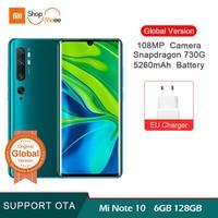 "47 Global Version Xiaomi mi note 10 6GB 128GB 108MP Penta Camera Smartphone Snapdragon 730G 5260mAh 30W fast 6.47 ""AMOLED screen (1)"