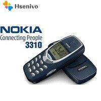3310 мобильный телефон оригинальный разблокированный Nokia 3310 дешевый телефон 2G GSM поддержка русская и арабская клавиатура мобильный телефон