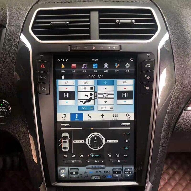 KiriNavi Tesla стиль вертикальный экран 12,1 Android 8,1 Автомагнитола gps навигация для Ford Explorer автомобильный мультимедийный плеер 2011 +