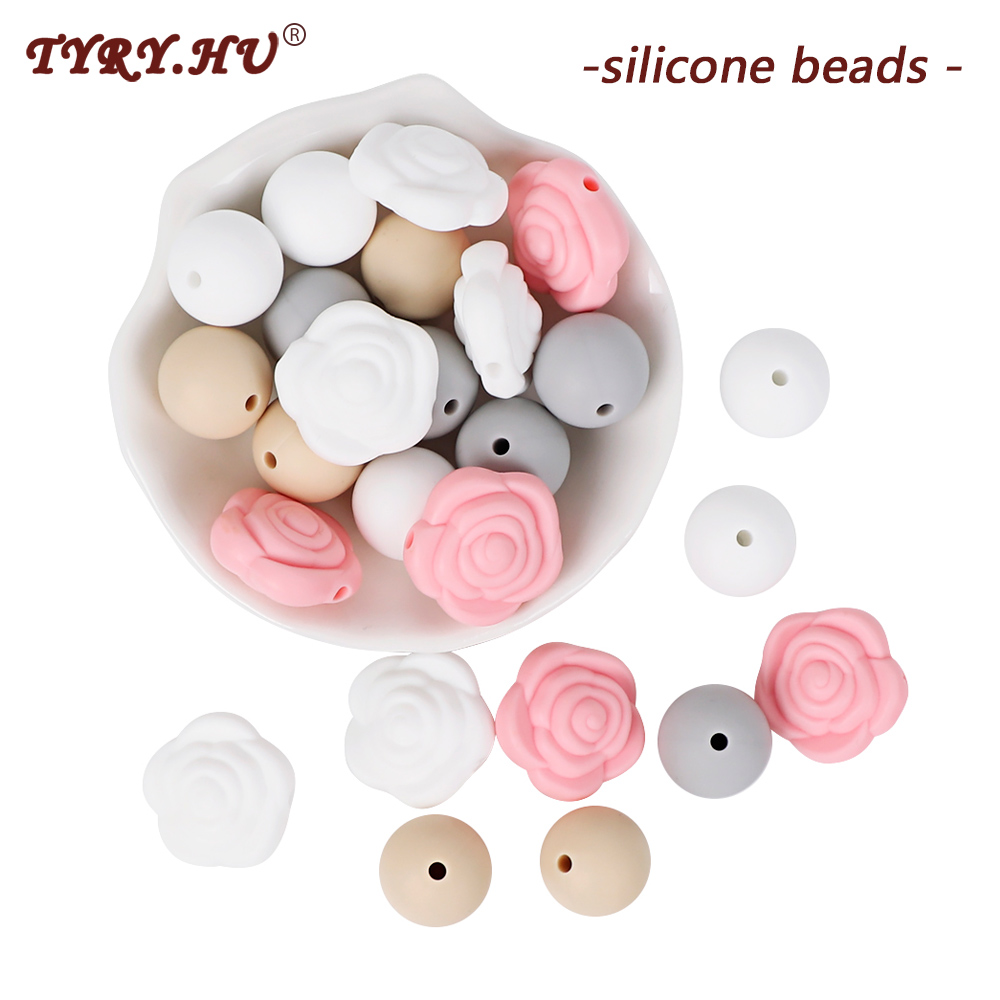 12mm Diy Letter Safe Silicone Teething Beads For Baby Teether Pacifier Chain`VG