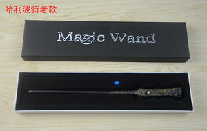 Image 2 - Harri Potter Wands Toys 36 CM Glowing Metal Magic Wand Hogwart Popular Gifts With Gift Box Cosplay Real Magic Effects Kid Toy