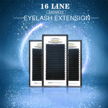 16 filas/funda 7 ~ 17mm cheap Blackest 3D kerea synthetic individual lashes eyelash extension