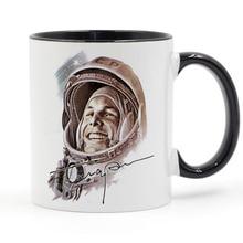 цена Russia Ussr First World Soviet Cosmonaut Gagarin Coffee Mug Ceramic Cup Gifts 11oz онлайн в 2017 году