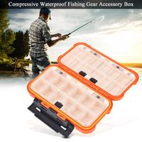 Waterproof Fishing Tackle Boxes Plastic Fishing Lure Bait Hook Storage Case Tackle Box Fishing Accessories