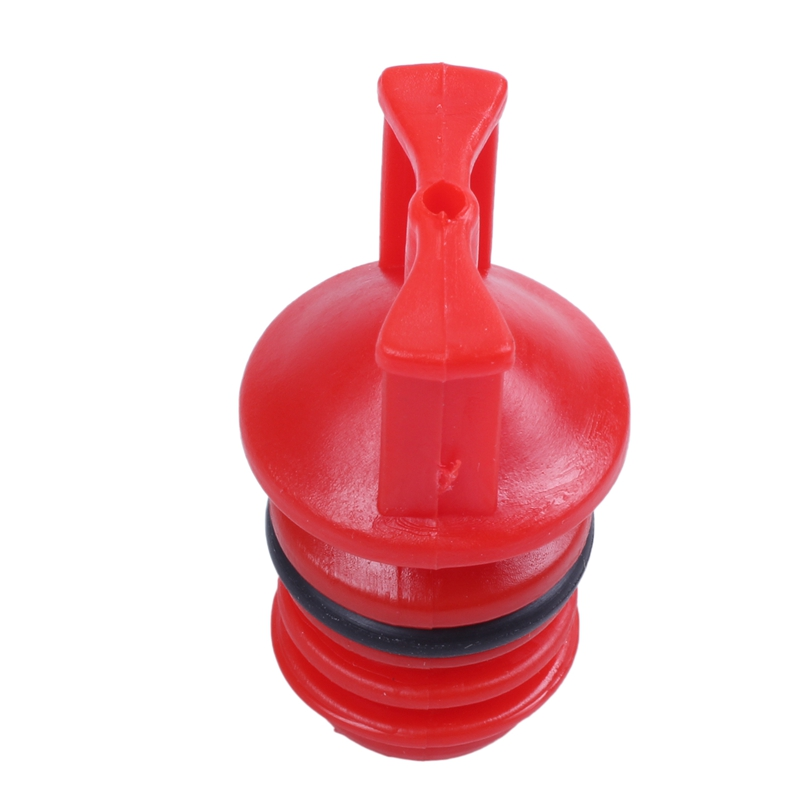 Red Plastic Housing 18mm Plug Male Thread Dia Oil Plug For Air Compressor