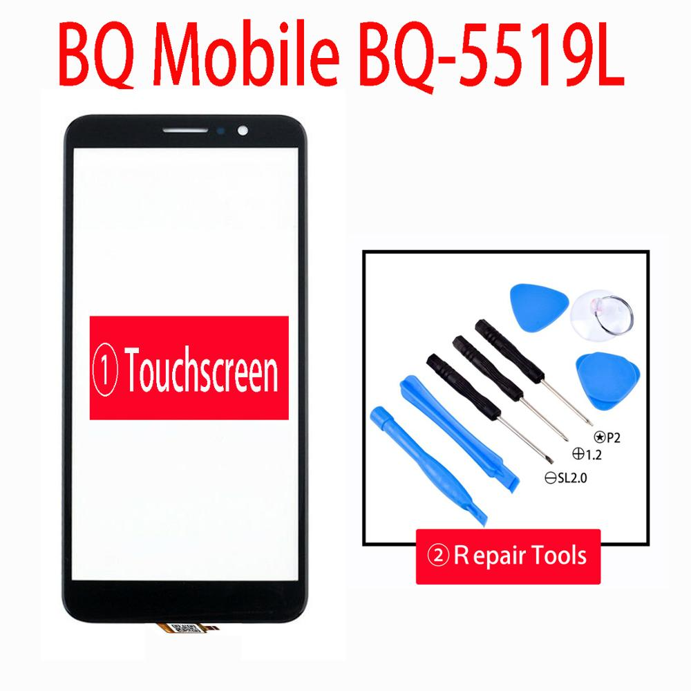 New 5.5inch For BQ Mobile BQ-5519L BQ-5519 BQ 5519L Fast Plus Touch Screen Digitizer Glass Sensor Panel Lens Glass Replacement