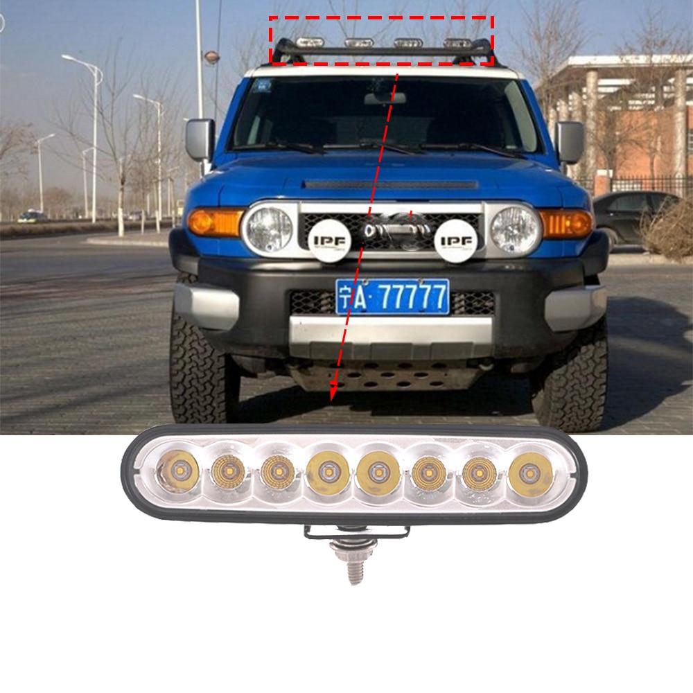 2X 6 inch 45W LED Work Light Bar Flood Lamp Off road Car Tractor Boat 4WD Fog