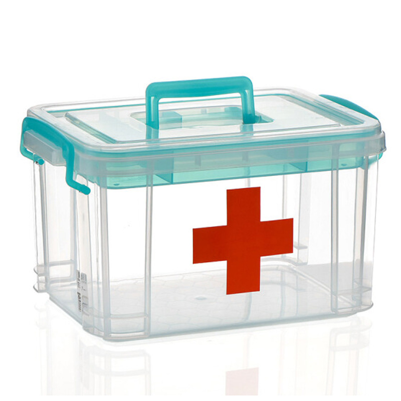 Multi-use Storage Box Plastic First Aid Kit Box Pill Organizer Portable Household Organizor