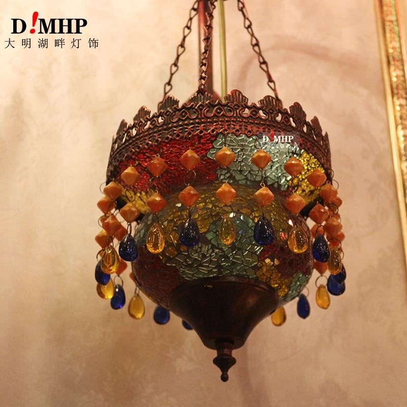 Coffee bedroom bedside mirror headlamp color warm corridor coffee shop retro decoration Southeast Asia wall lamp