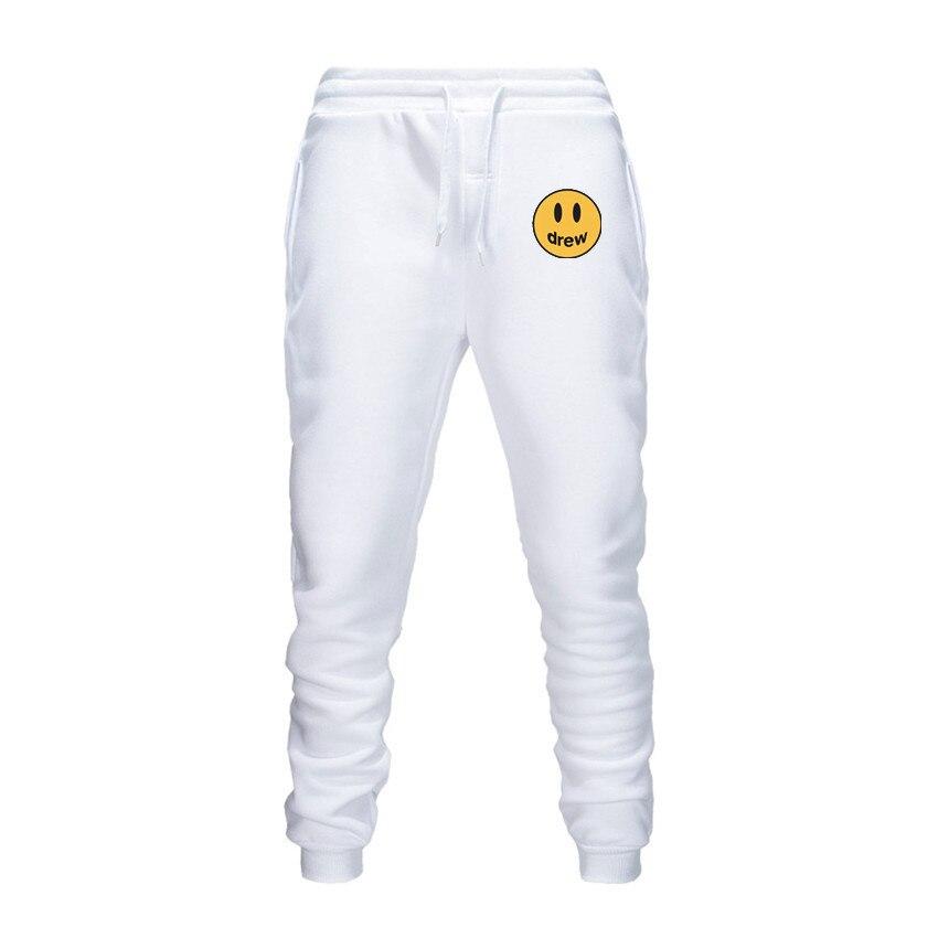 WAMNI Drew House Justin Bieber Set Casual Long Pants Women Men Hoodie Workout Skinny Sweatpants Joggers Tracksuit Cotton Trouser