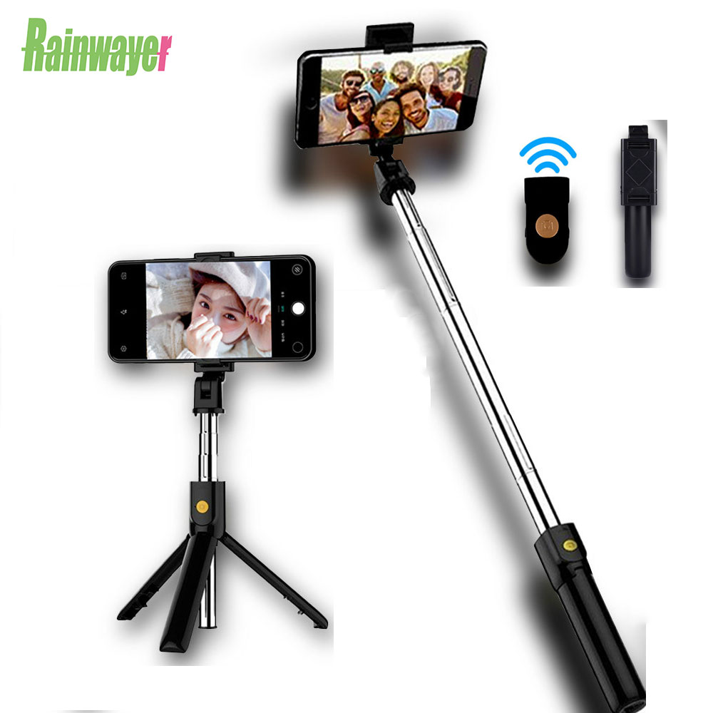 Wireless Bluetooth Selfie Stick Mini Tripod Extendable Foldable Monopod For IPhone For Samsung Xiaomi Huawei Phone