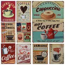 Get more info on the 30X20cm Coffee Served Here Tin Sign Vintage Cafe Shop Tintin Home Bar Decorative Wall Art Painting Metal Signs Wall Decor H70