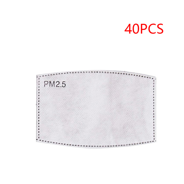 Bacteria proof Flu Face masks Care Cotton PM2.5 Black mouth Mask anti dust mask Activated carbon filter Windproof Mouth-muffle 5