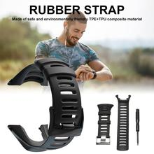 Watch Band Strap Soft Black Rubber Replacement Accessory For Suunto Ambit 1/2/2S/2R/3