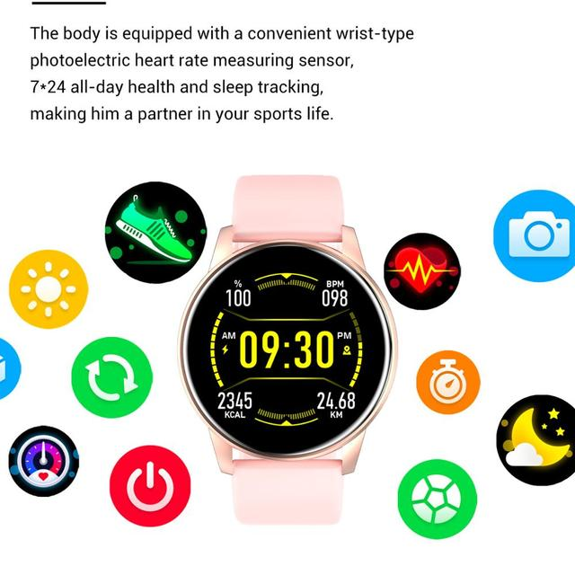 Women Smart Watch Real-time Weather Forecast Activity Tracker Heart Rate Monitor Sports Ladies Smart Watch Men For Android IOS 3