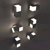 LED Rotate Wall Light Outdoor Waterproof IP65 Wall Lamp Home Sconce Indoor Decoration Lighting Lamp garden villa balcony lamp