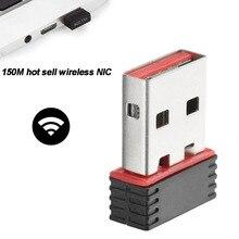 ミニ 150 150mbps ドングルネットワークカード無線 Lan アダプタ LAN Usb の Wi Fi ワイヤレスネットワークカード PC の USB 受信機
