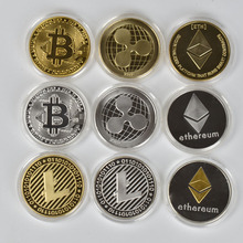 1PC Gold Plated  Bitcoin Coin shiba coin BTC coin Litecoin Ripple Ethereum Cardano IOTA FIL wow doge coin cryptocurrency coin