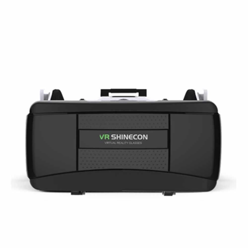 Terbaru 3D VR Kacamata Virtual Reality Kacamata VR Shinecon VR Headset Helm untuk Smartphone Smart Ponsel Karton Google (4.7- 6.1 Inch)