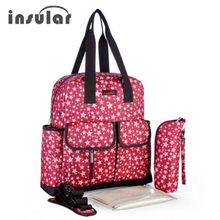 Insular Mummy Maternity Baby Diaper Bag Large Capacity Nappy Stroller Bag Waterproof Mommy Travel Tote Bag Nursing Changing Bags
