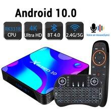 تي في بوكس أندرويد 10.0 بلوتوث 4k ثلاثية الأبعاد 2.4G & 5.8G واي فاي 4k ثلاثية الأبعاد يوتيوب HDR + عالية الجودة صندوق سريع جدا 4GB 32GB 64GB 128G ROM