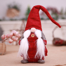 MTL cute Christmas pendant CHANT NOEL XMAS Sitting Tomte Gnome Doll  Tabletop Santa Figurines Ornaments festival supplies